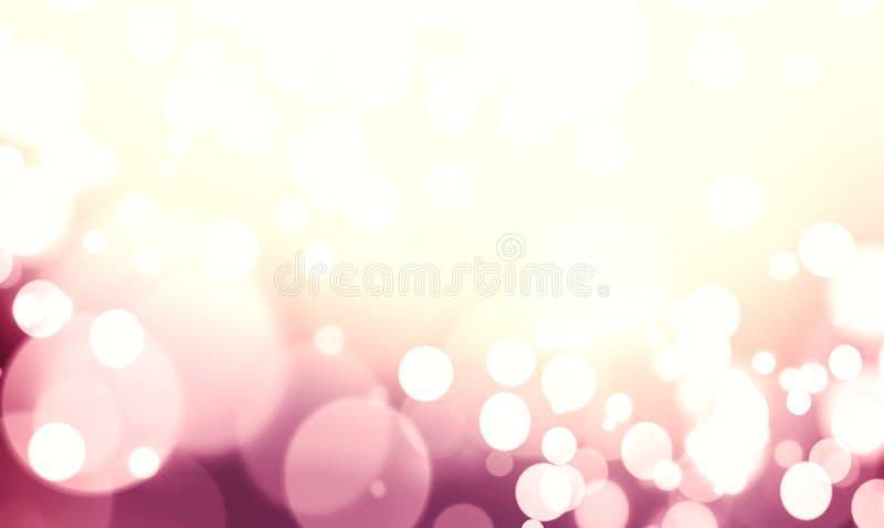 紫色色的抽象发光的光和闪烁背景 皇族释放例证