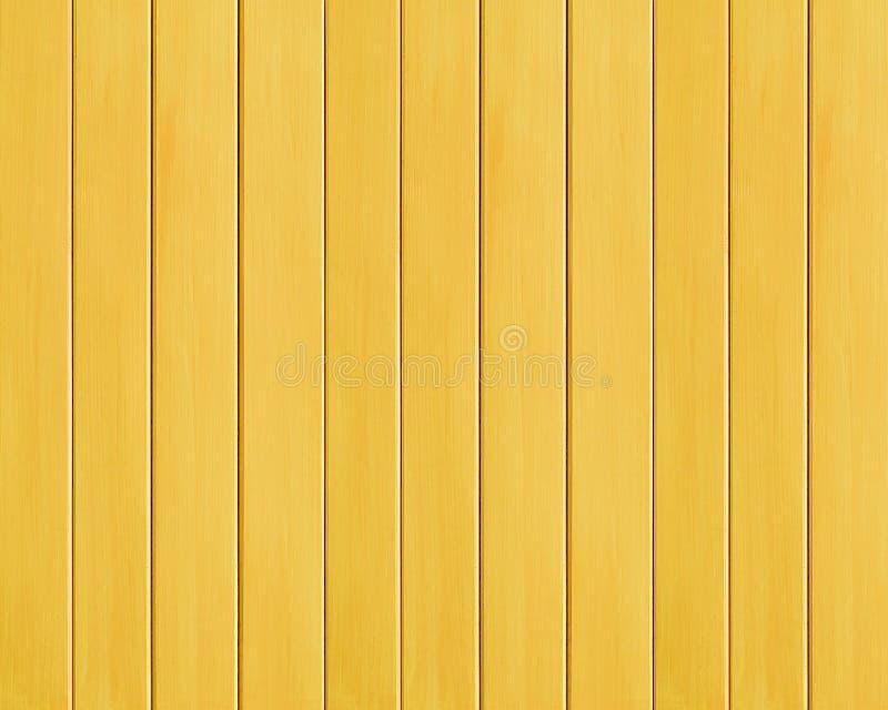 黄色色的木板条纹理背景 图库摄影