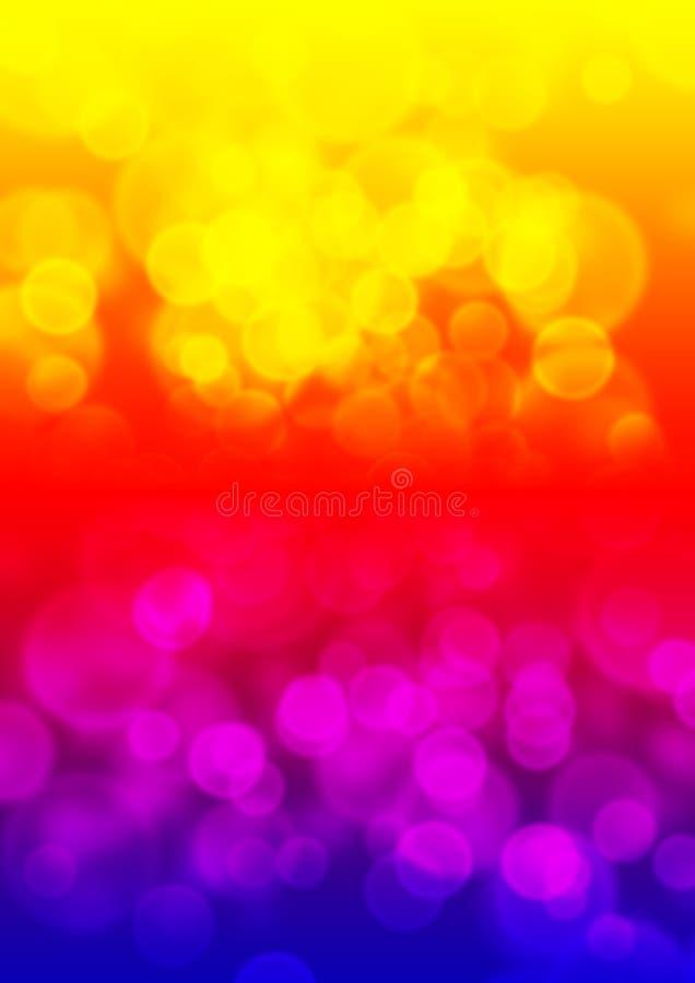 色色的Bokeh多 免版税库存图片