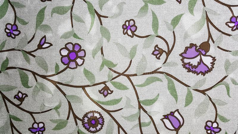 紫色花墙纸 图库摄影