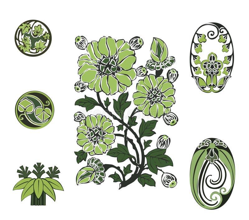 绿色花 库存照片