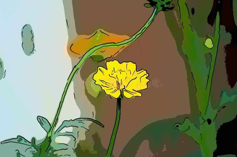 黄色花 免版税图库摄影