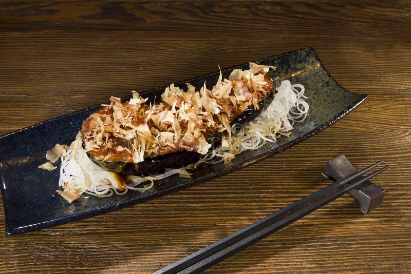 紫色茄子日本人食物 免版税图库摄影