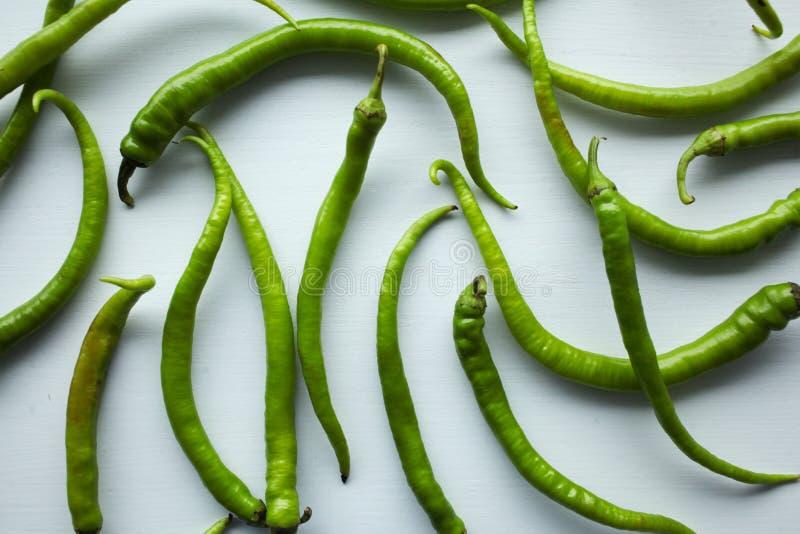 绿色菜和意粉 图库摄影