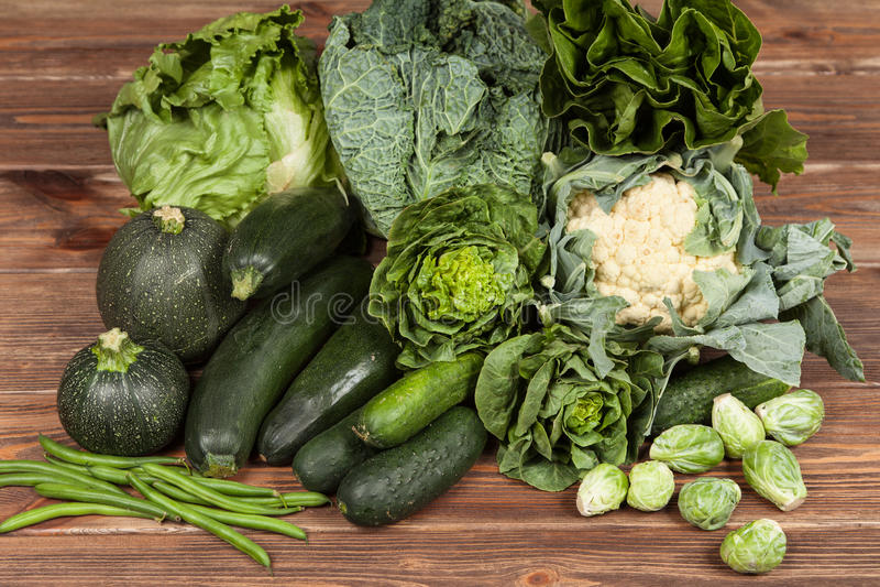 绿色菜的分类 库存图片