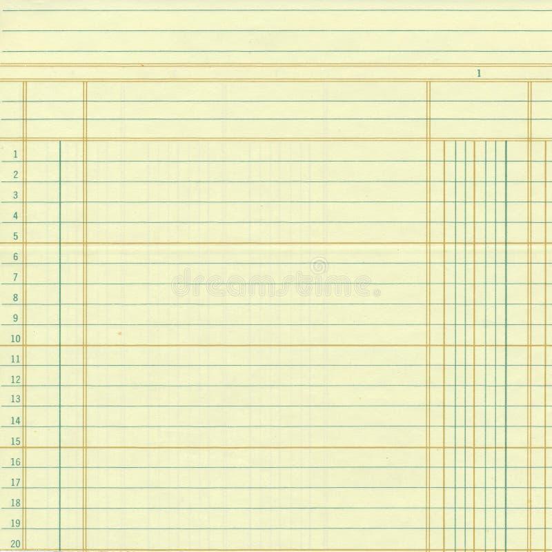 黄色葡萄酒总帐或座标图纸数字 图库摄影