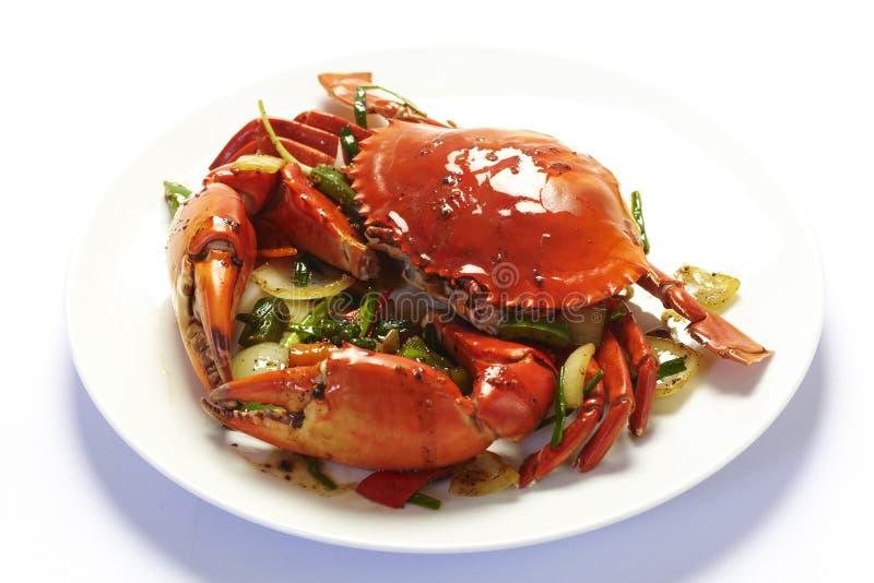 黑色螃蟹胡椒 库存图片