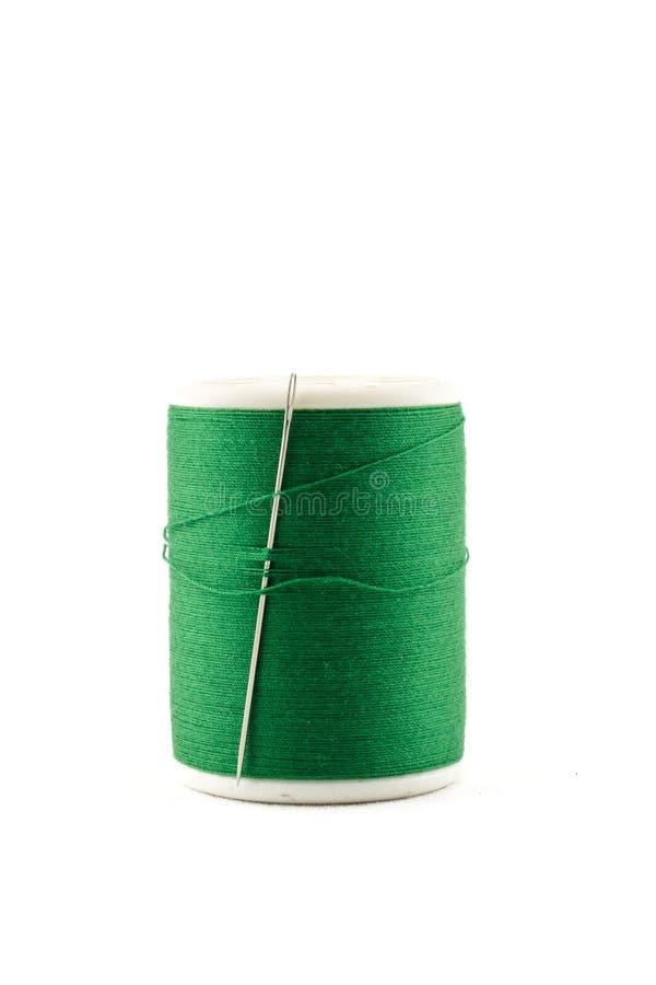 绿色螺纹和针短管轴  免版税库存图片