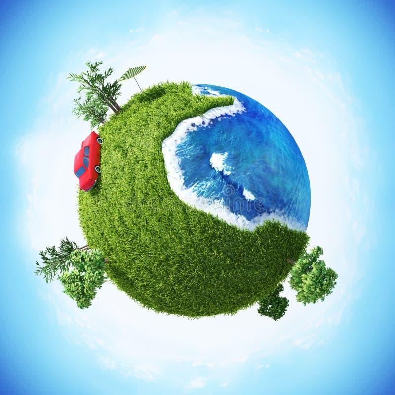 绿色行星容易的版本07 库存图片