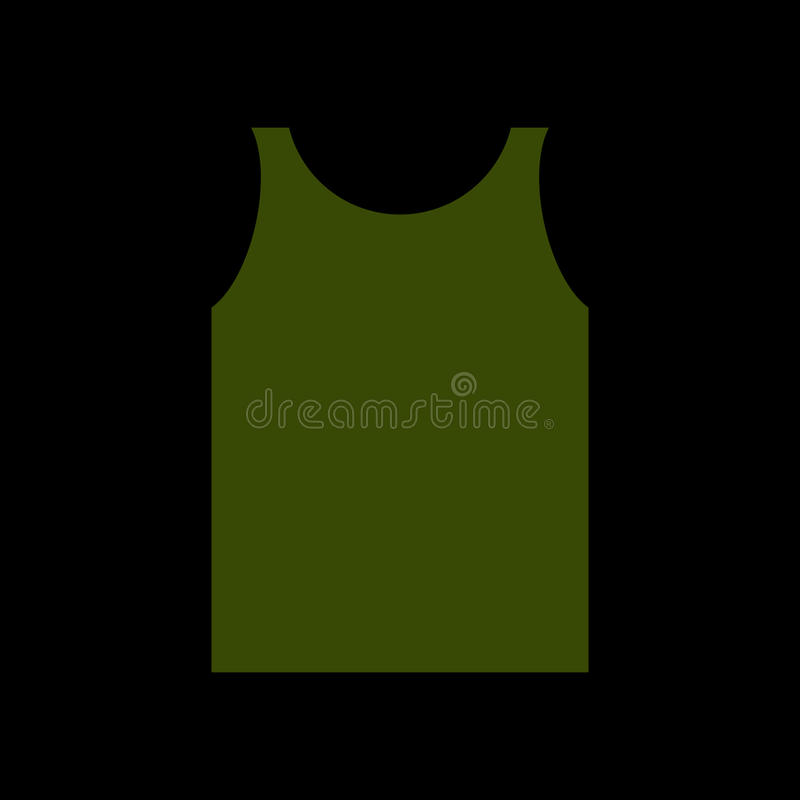 绿色衬衣战士 被隔绝的军队衣裳 军服 向量例证
