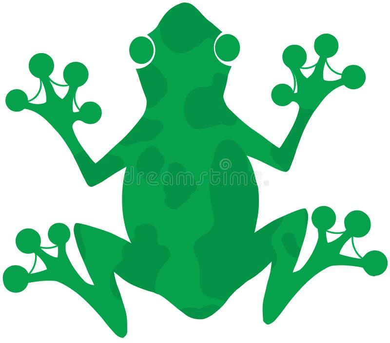绿色被察觉的青蛙 皇族释放例证