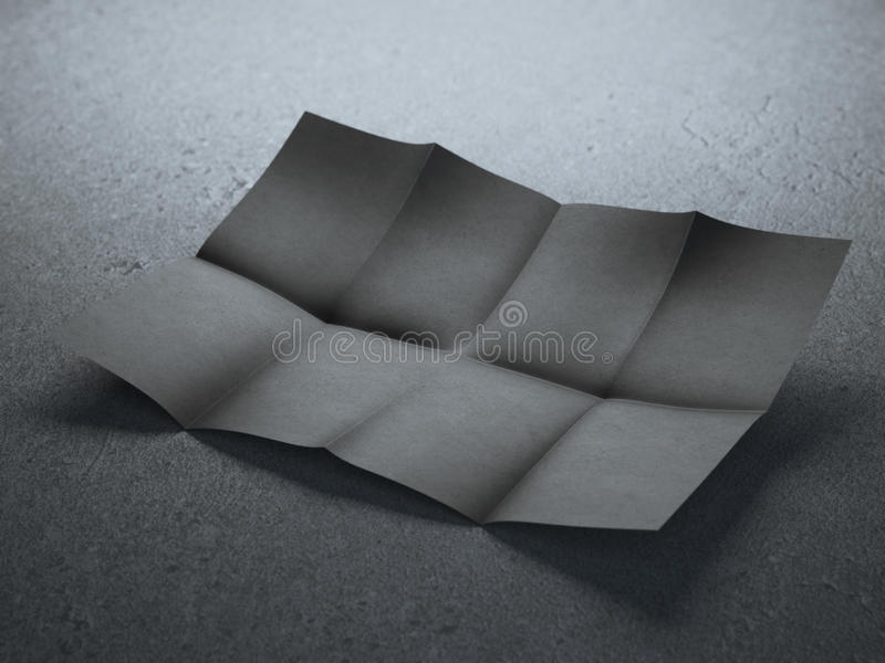 黑色被折叠的纸片 图库摄影
