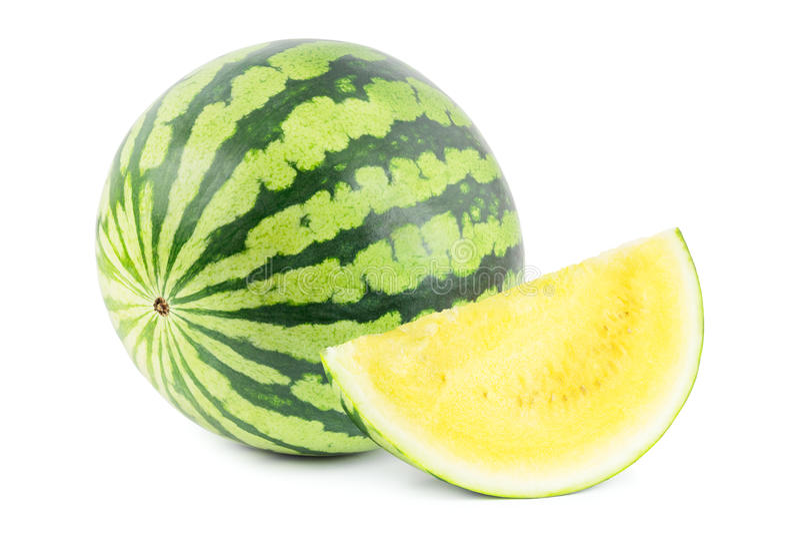 黄色西瓜 免版税库存图片