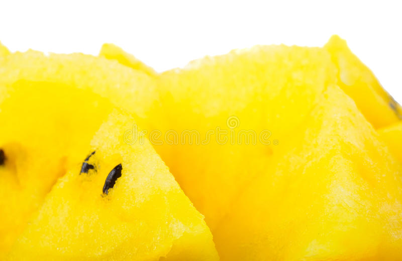 黄色西瓜 免版税图库摄影