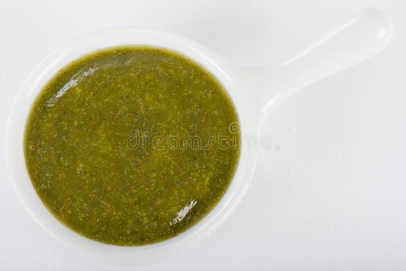 绿色调味汁垂度 库存照片