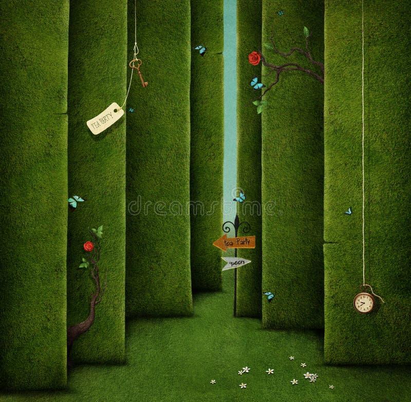 绿色迷宫 向量例证