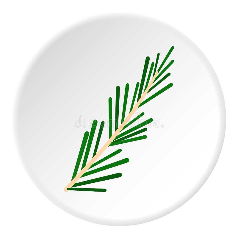 绿色迷迭香枝杈象圈子 向量例证