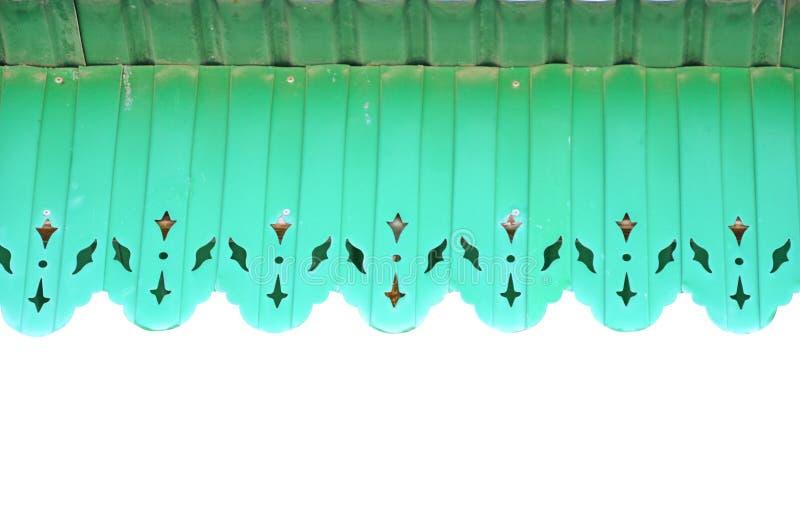 绿色遮篷泰国样式 库存照片
