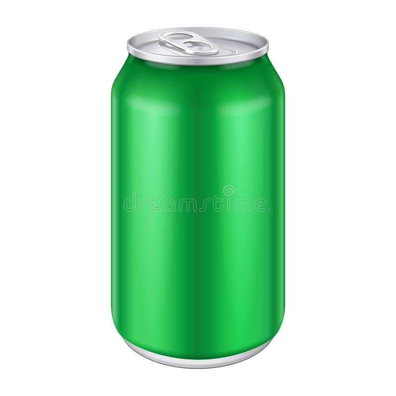 绿色金属铝饮料饮料能500ml 皇族释放例证