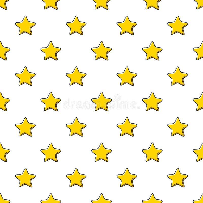 黄色金黄星杂文剪影样式背景 向量例证