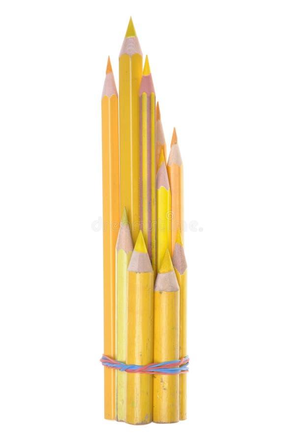 黄色铅笔 图库摄影