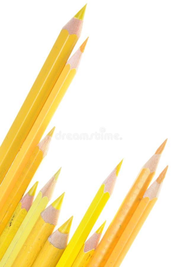 黄色铅笔 库存照片