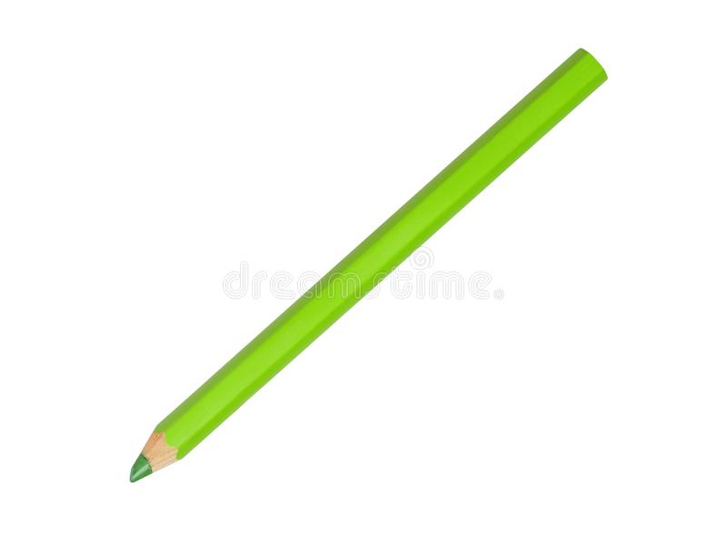 绿色铅笔 免版税库存照片