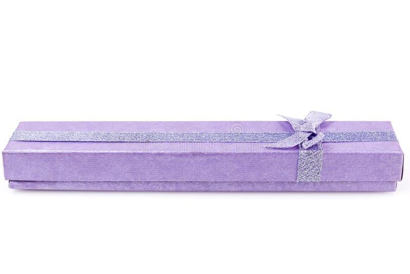 紫色长的箱子 库存照片