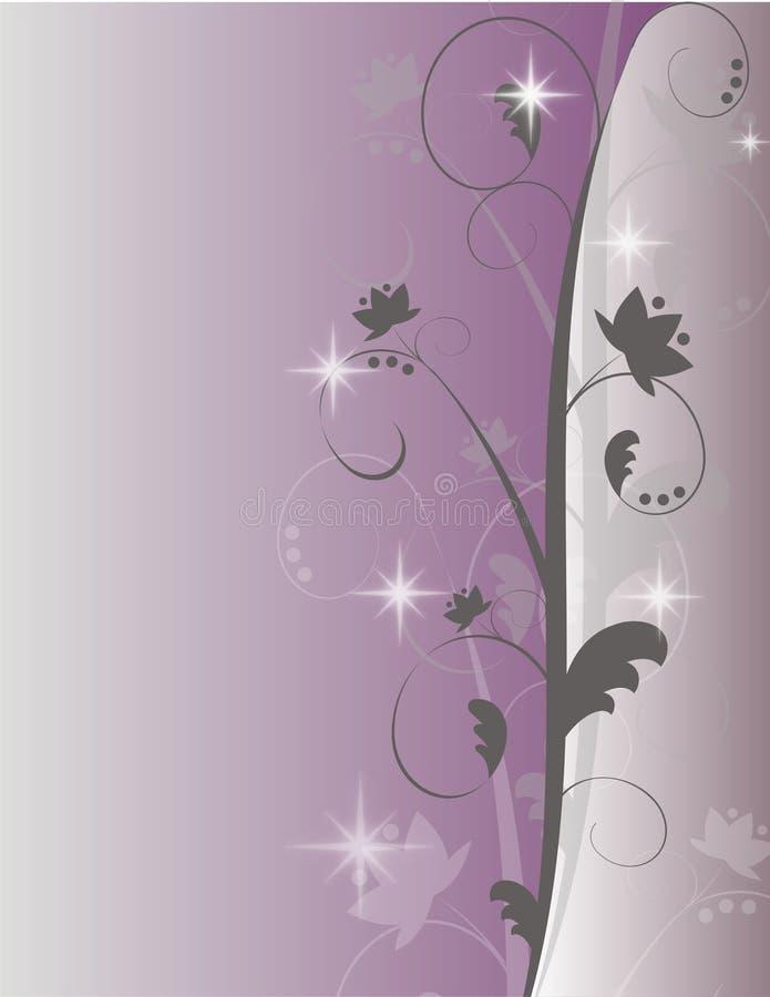 紫色闪闪发光漩涡背景 免版税库存图片