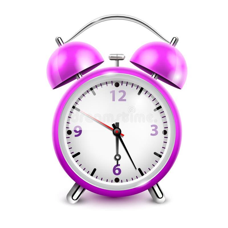 紫色闹钟 库存例证
