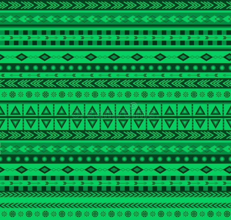 绿色阿兹台克样式 库存例证