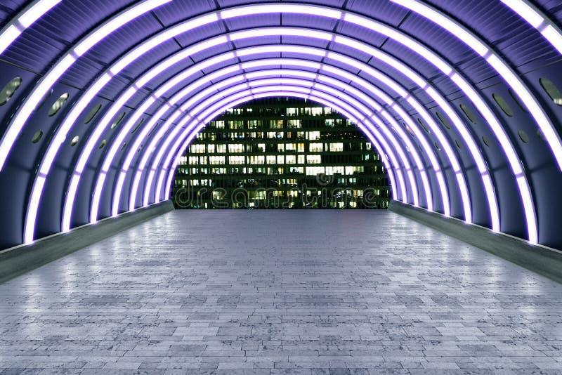 紫色隧道 库存例证