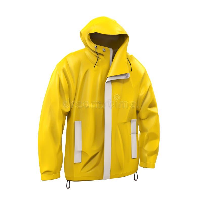 黄色雨衣 库存例证