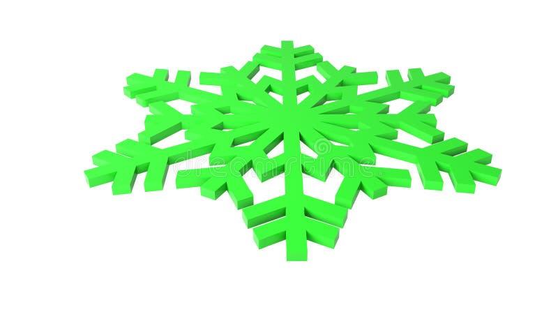 绿色雪照片 库存照片