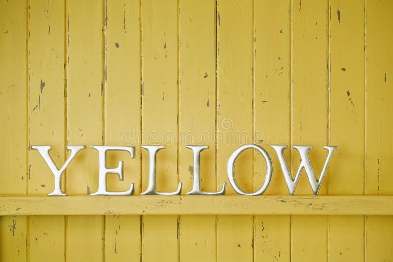 黄色颜色词背景 库存图片
