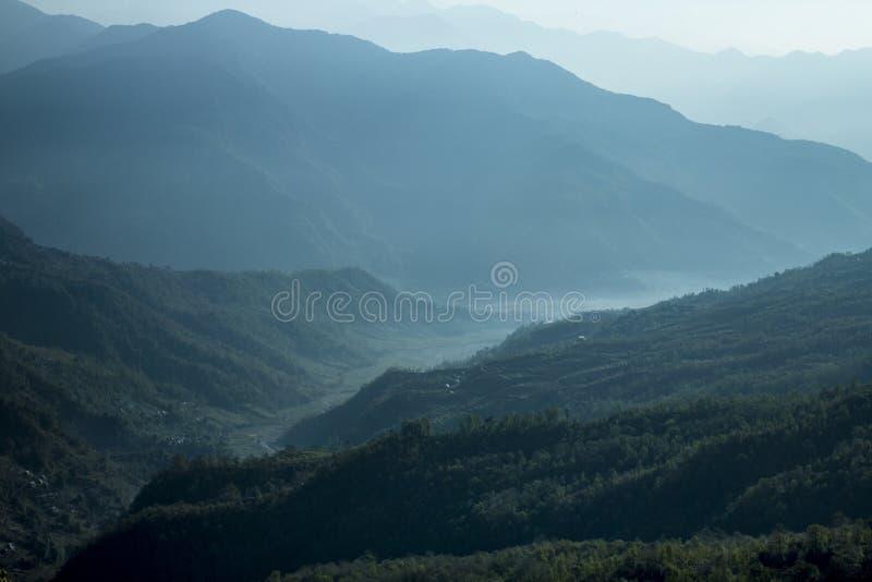 绿色风景安慰性的视图 库存图片