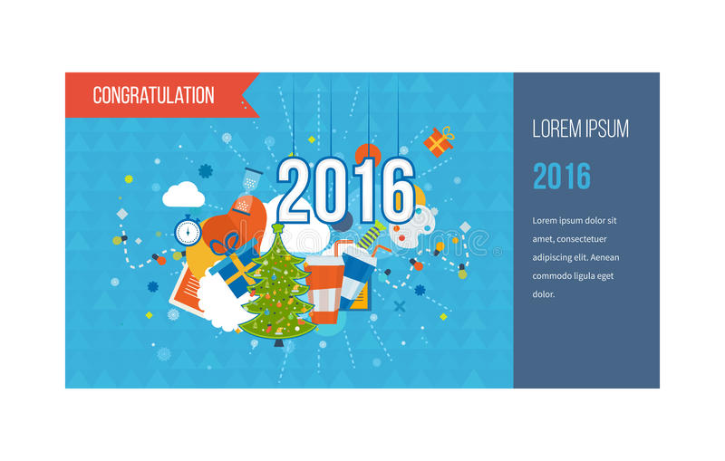 Download 绿色风格化圣诞树 招呼新年度 向量例证. 插画 包括有 格式, 12月, 图象, 平面, 打印, 丝带, 庆祝 - 62525927