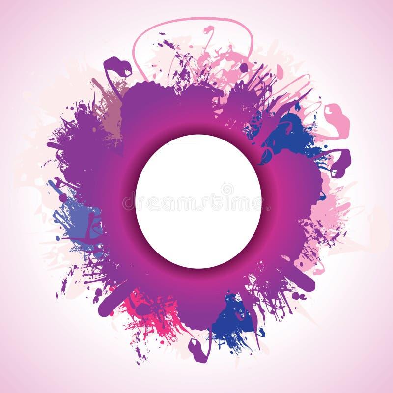 紫色飞溅 库存例证