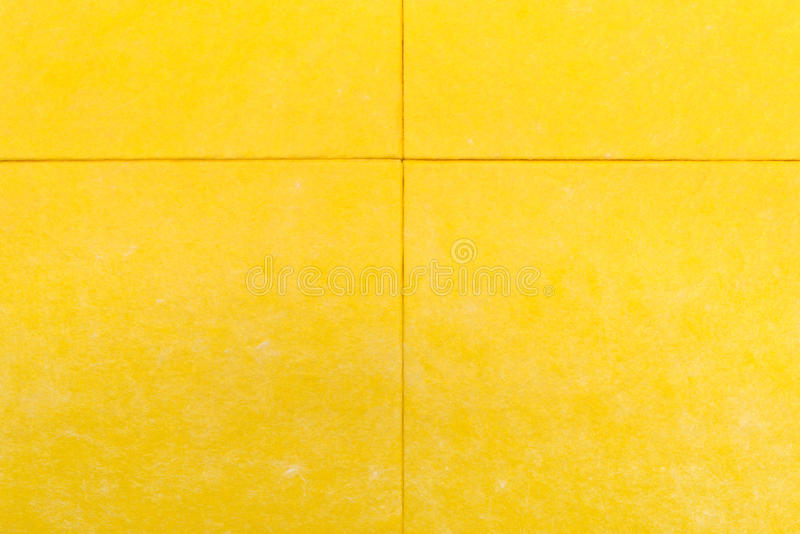 黄色餐巾 免版税库存照片