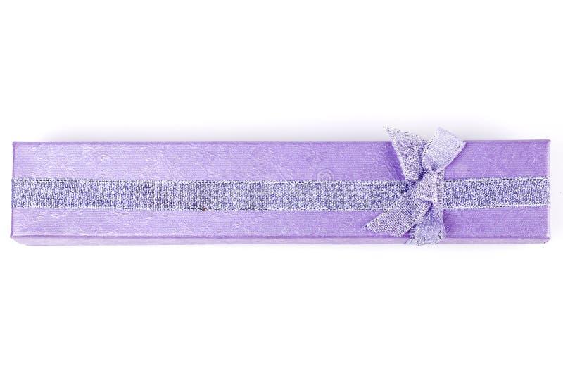 紫色首饰盒 图库摄影