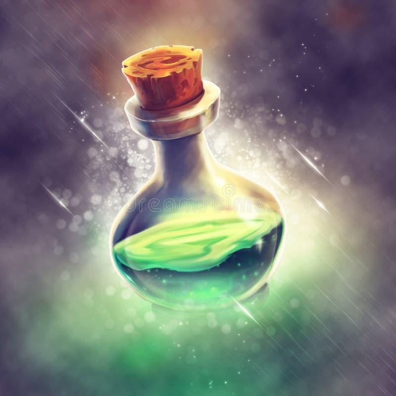 绿色魔药 向量例证