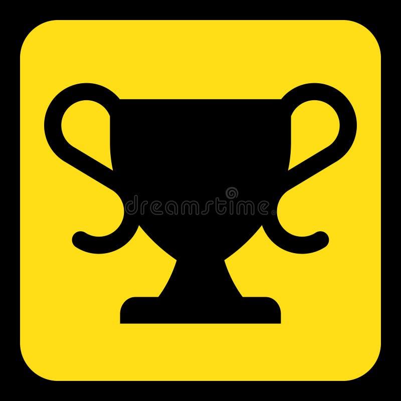 黄色,黑信息标志-体育托起象 库存例证
