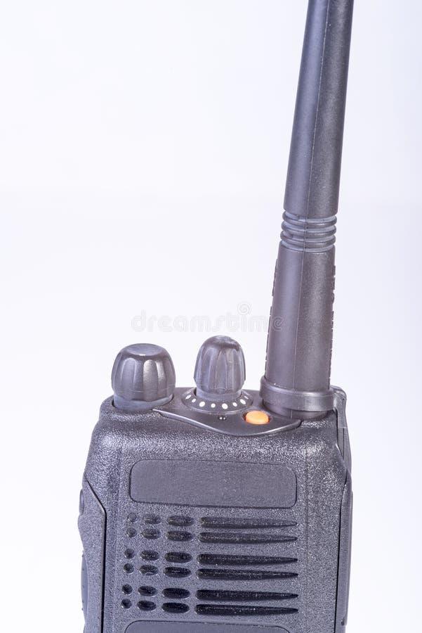 黑色紧凑可移植的专业收音机 库存图片