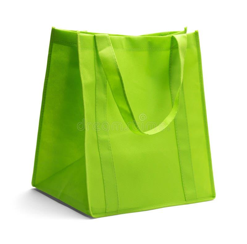 绿色织品袋子 库存照片
