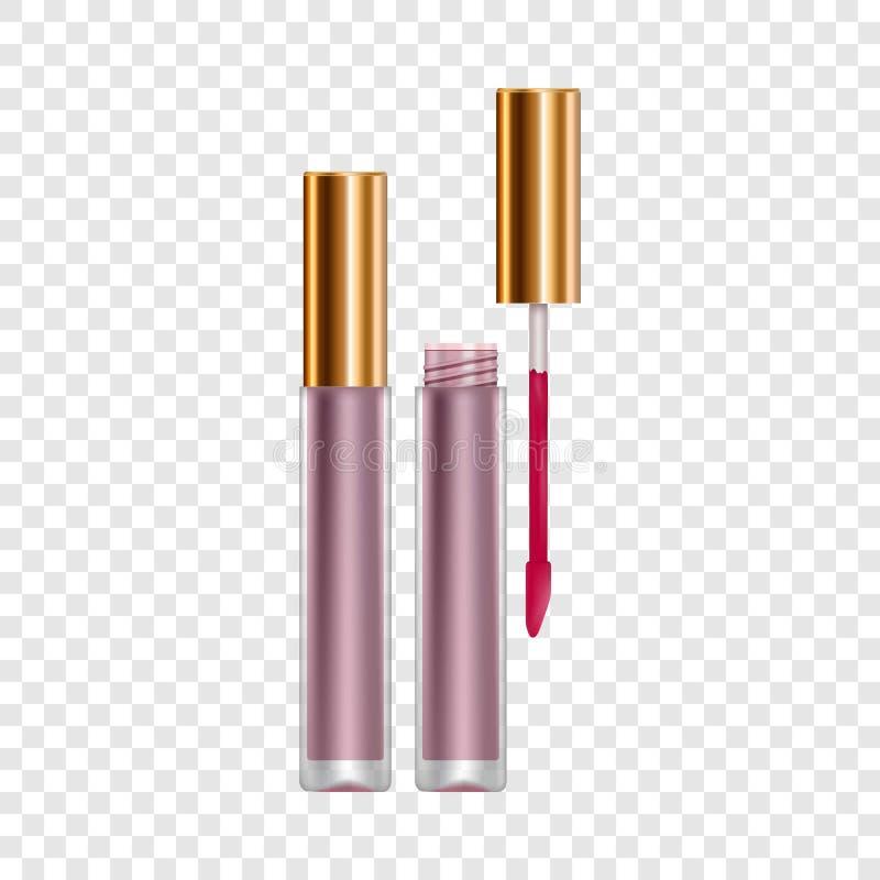 紫色嘴唇光泽大模型,现实样式 向量例证