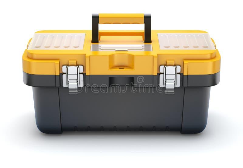 黄色黑塑料工具箱 向量例证