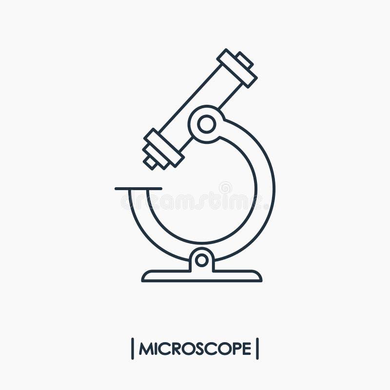 黑色更改图标显微镜向量白色 库存例证