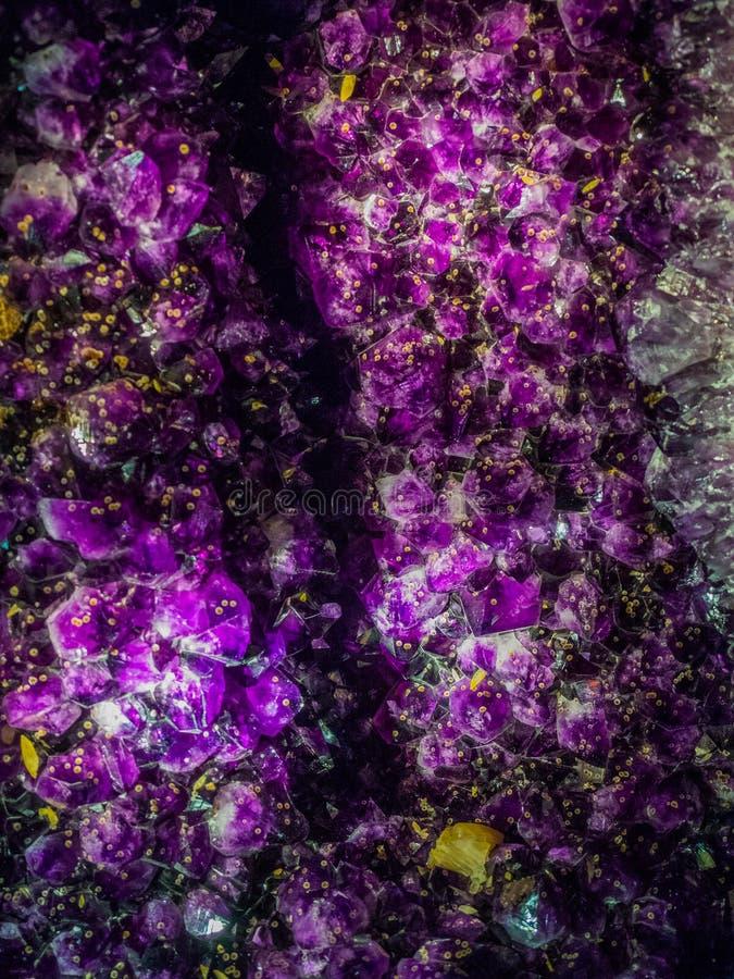 紫色水晶 库存照片