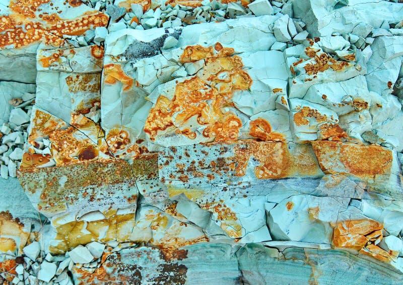 绿色绿松石石头 免版税图库摄影