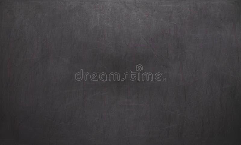 黑色黑板空白白垩黑板空的纹理跟踪 空的空白黑色黑板 免版税图库摄影